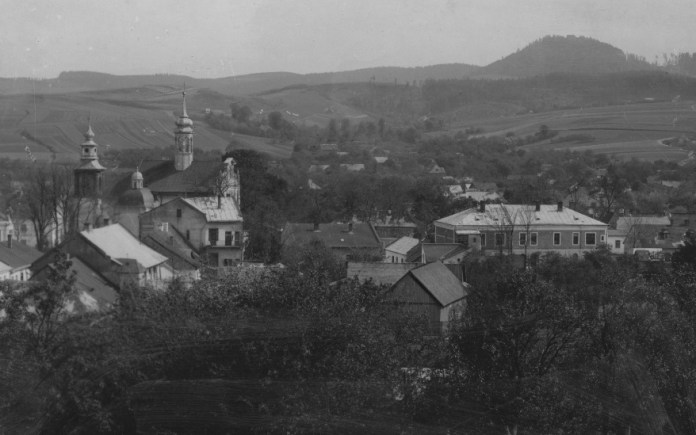 Панорама міста . Добромиль, 1918-1939 рр.