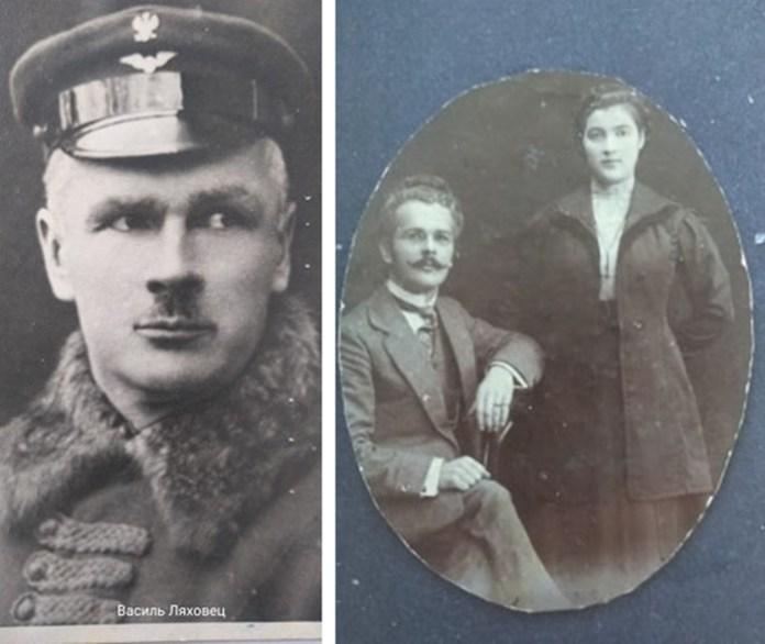 Ліворуч: Василь Ляховець. Праворуч: Фото Василя Ляховця, надіслане з Польщі