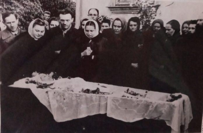 Похорон Ніни Негребецької, 1947 рік