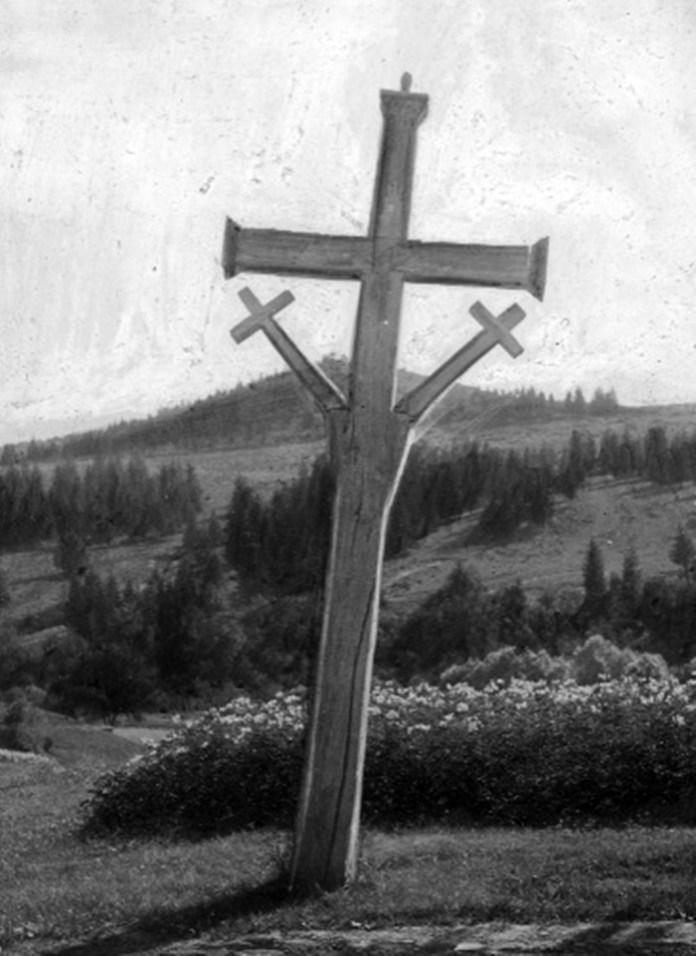 Придорожний хрест біля Труханова, 1910-ті рр.