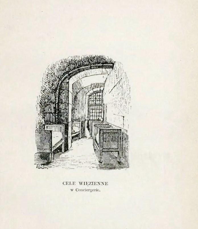Тюремна камера. де утримували Любомирську. Ілюстрація з книги