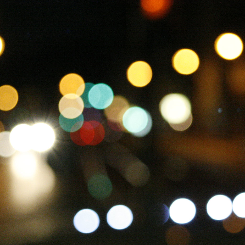 photo de nuit bokeh