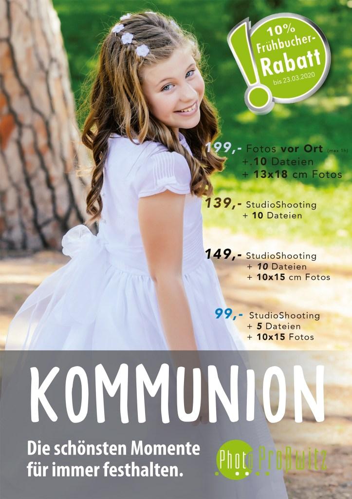 Fotos von der Kommunion oder Konfirmation zur Erinnerung. Bei uns im Fotostudio oder vor Ort bei ihrer Feier. Top attraktive Angebote, Kommunion und Konfirmation 2020