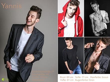Aktuelle Polas im Modelbook als Sedcard im Fotostudio, Sedcard