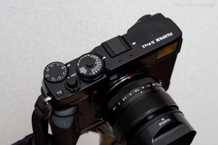 FUJIFILMフジフイルム富士フイルムX-Pro2にMAPCAMERAマップカメラオリジナルレリーズボタンを装着