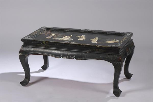 table basse chinoise rectangulaire a