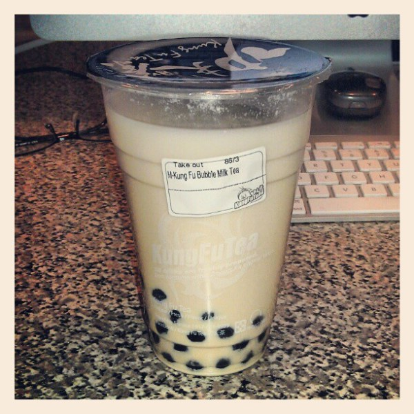 M-Kung Fu Bubble Milk Tea. Not mine, it's for Lily.