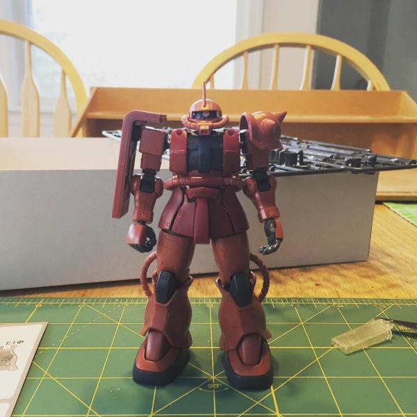 Progress on the HG Char's Zaku II Origin version