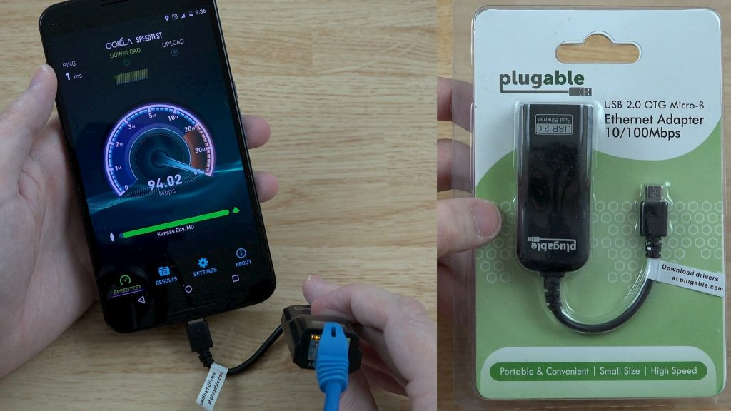 Android phone via Ethernet port