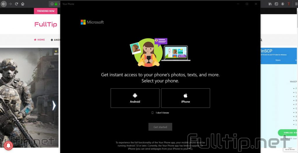 send and receive messages and download photos between Android PC