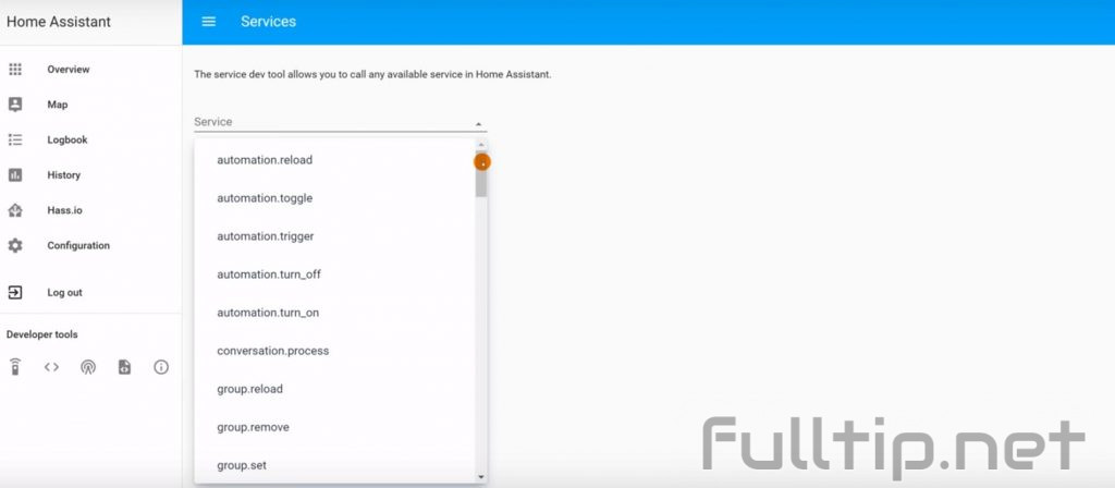 Services in Home Assistant
