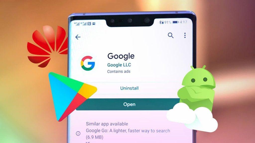 Google Huawei Mate 30 application