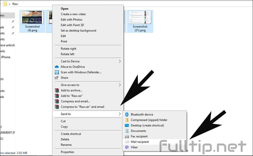 Resize multiple photos at once on Windows 10