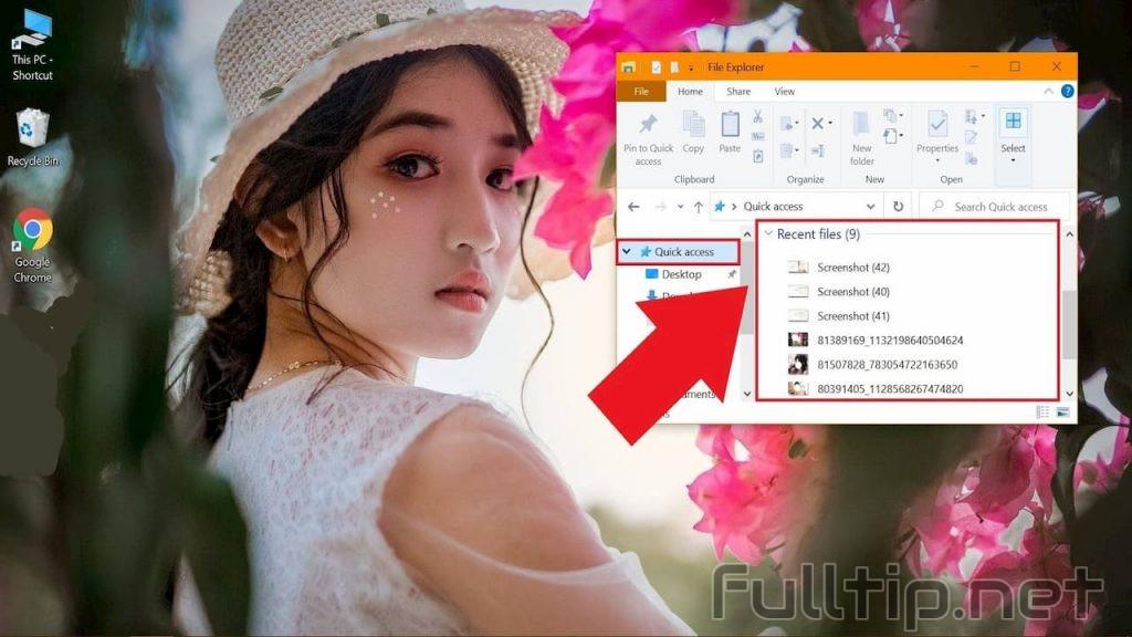 hide recently used folders list
