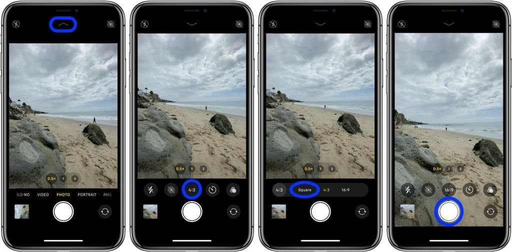 aspect ratio iPhone camera