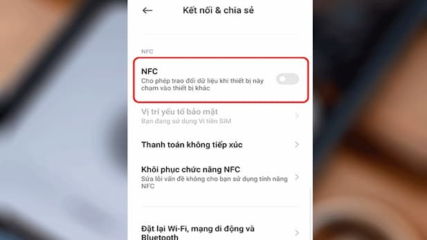 Activate the NFC feature on your device