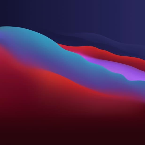 macOS Big Sur colorful night 6k