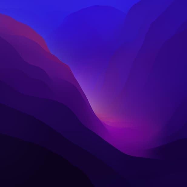 macOS Monterey Beta dark 6k