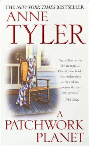 woman ignoring our shenanigans reading. I saw the title and the madre immediately says: that's an anne tyler book. I'm glad I brought my librarian with me