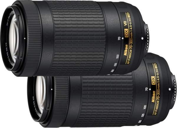 Nikkor AF-P DX 70-300 mm f/4,5-6,3G ED et sa version VR. - document Nikon