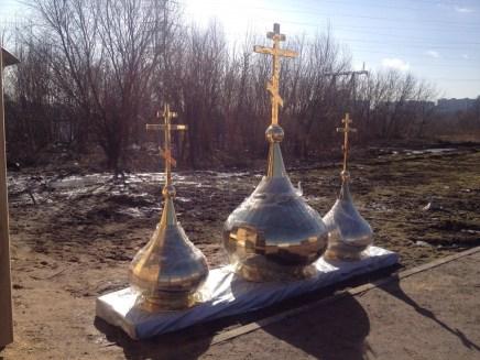 1 - Освящение куполов храма