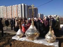 35 - Освящение куполов храма