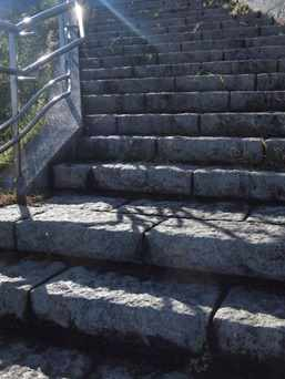 朝陽の階段