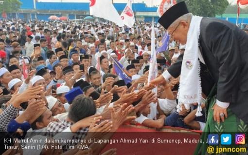 Jaring Dukungan, Kiai Ma'ruf Bersafari Madura - Lombok - Jabar - JPNN.COM