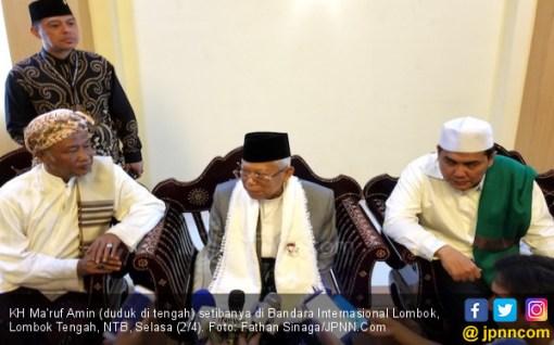 Bersafari di Lombok, Kiai Ma'ruf Yakini Prabowo Tak Akan Menang Lagi - JPNN.COM