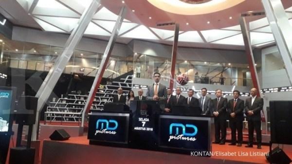 Saham MD Pictures (FILM) naik 49,52% pada pencatatan perdana