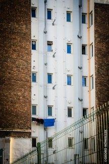 Fassade mit Wäsche