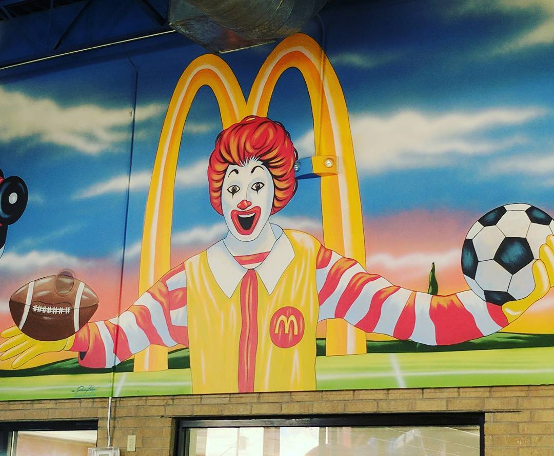 Is Ronald McDonald trying to be the Jesus of sports?