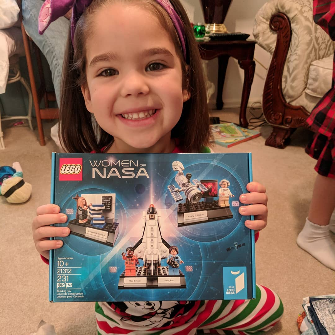 Teresa's Christmas included the Women of NASA Lego set, the Lego Friends Amusement park (what they market to girls), a Milky Way book, outer space bed set, and an unicorn astronaut print. Almost 100% space stuff