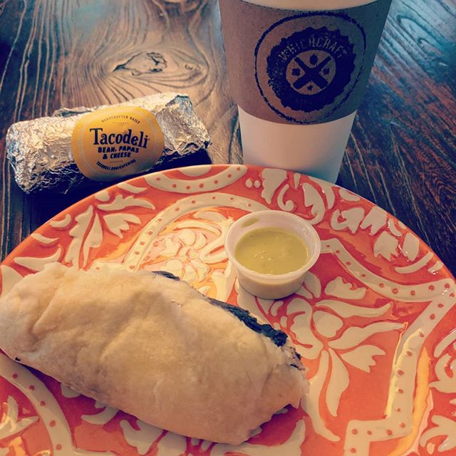 That there is just about a perfect breakfast #🌮☕
