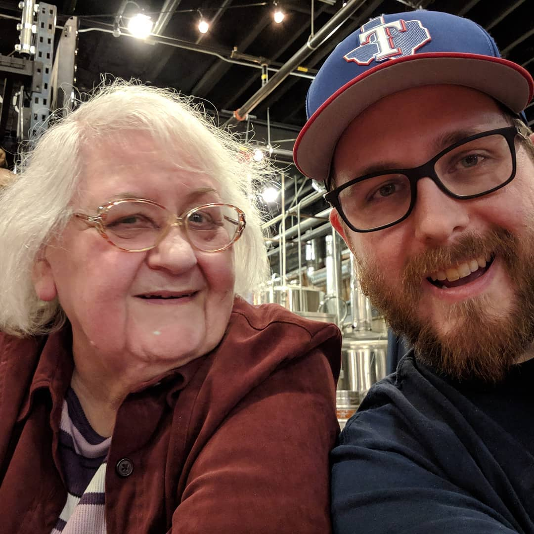 Here's photographic evidence that I got my mom to go to a brewery. Struck out on finding the first beer she likes but she had a good time anyhow