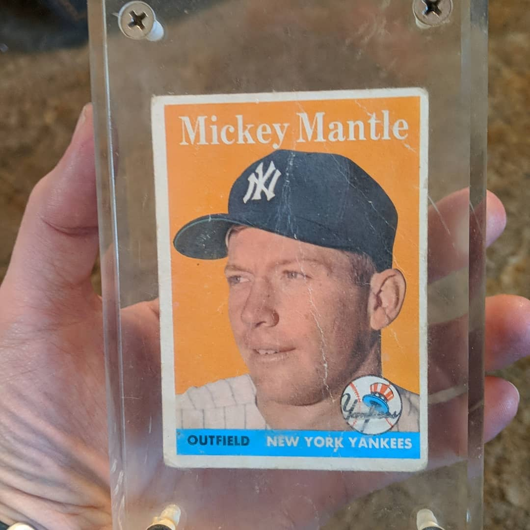I FOUND IT! It's been stuffed in a box for years and feared lost, but my mom keeps almost everything. Case is scuffed and the card was never in mint condition, but it has been found! 🥰⚾