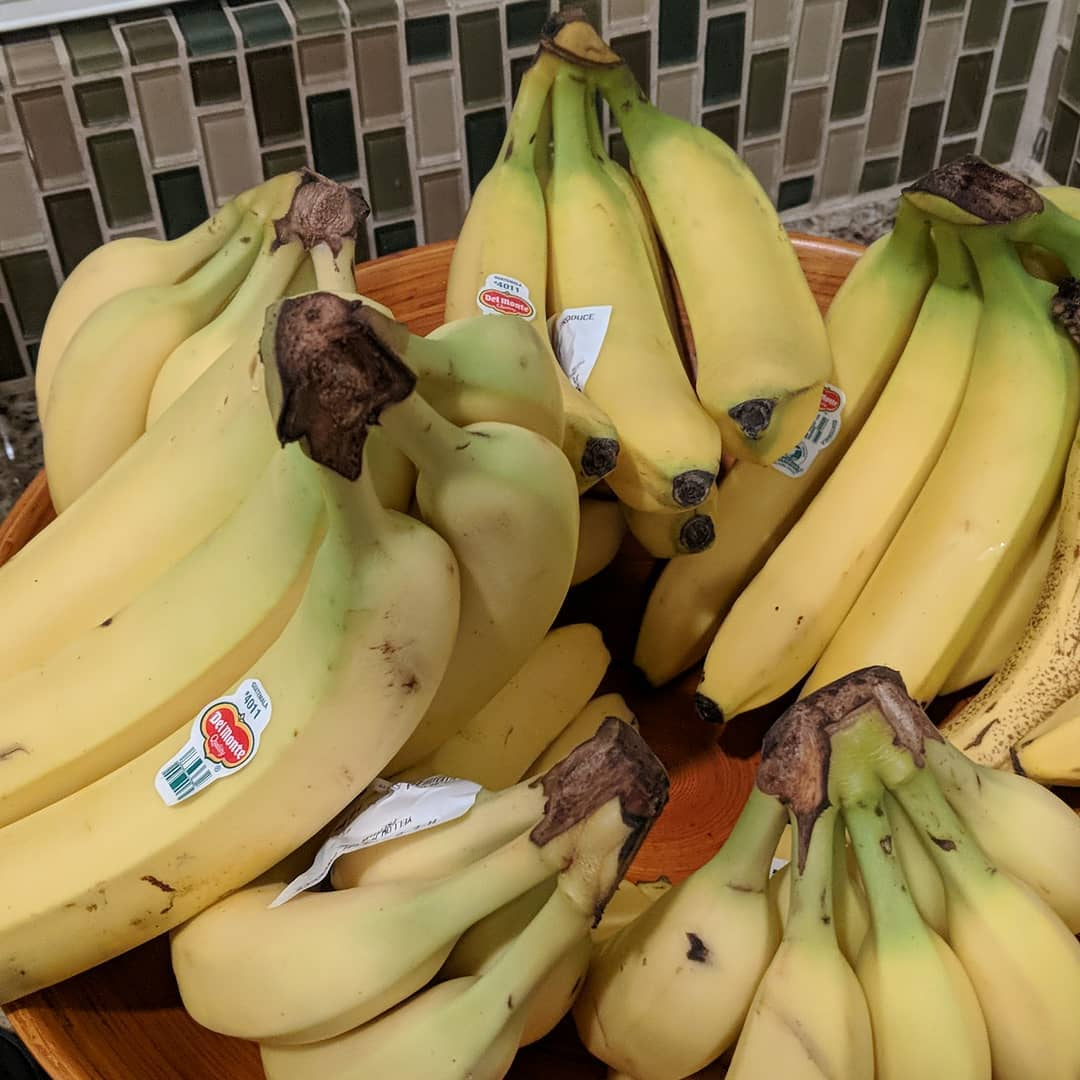 We eat a lot of bananas around here.