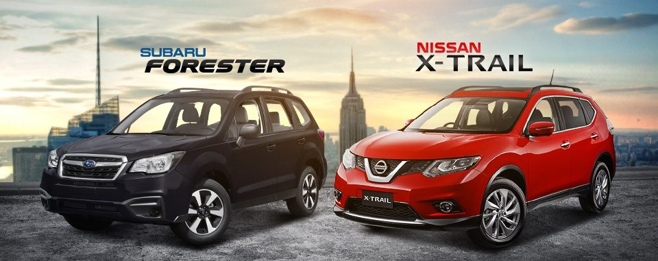 Subaru Forester VS Nissan X Trail SUV super indie e1490440872833