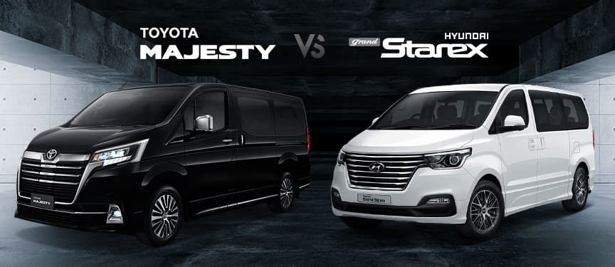 Toyota Majesty challenged to compete for the Hyundai H1