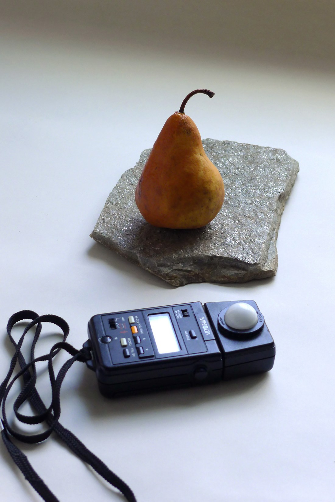 Product Photography: Pear and Light Meter