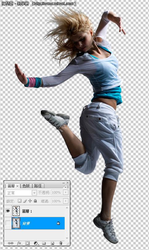 Photoshop 影像設計  - Photoshop 去背教學 - Alpha Channel 頭髮去背 - 金髮美女篇 - ck06