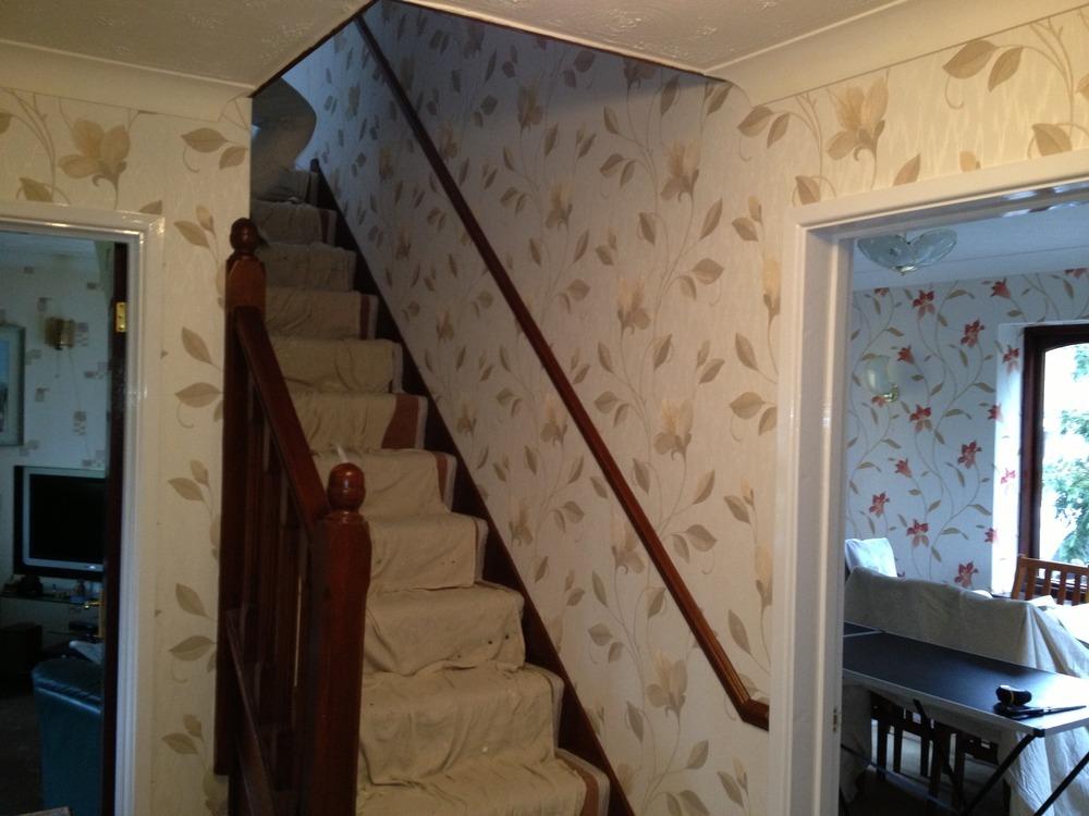 Hall Stairs Landing Decorating Ideas
