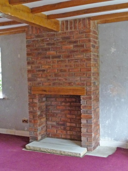 Build Chimney Stack In Living Room On Concrete Floor
