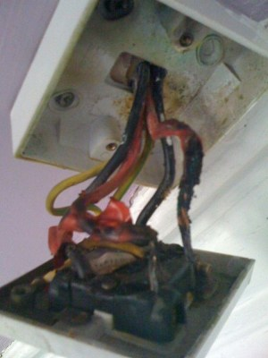 Shower Switch Replacement (Cord Pull)  Burnt wires  Electrical job in Glasgow, Lanarkshire