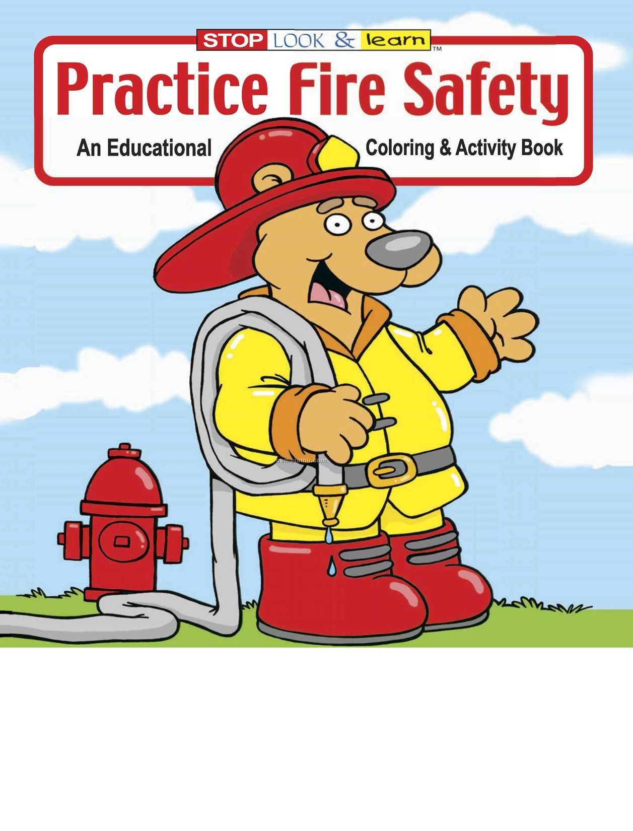 Practice Fire Safety Coloring Book China Wholesale