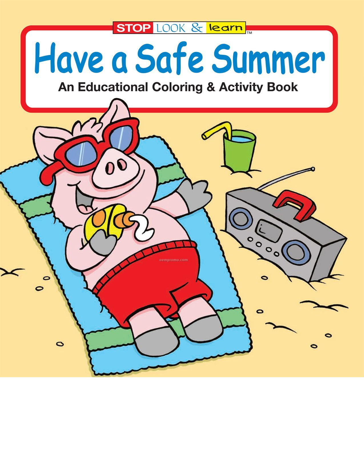 Have A Safe Summer Coloring Book China Wholesale Have A