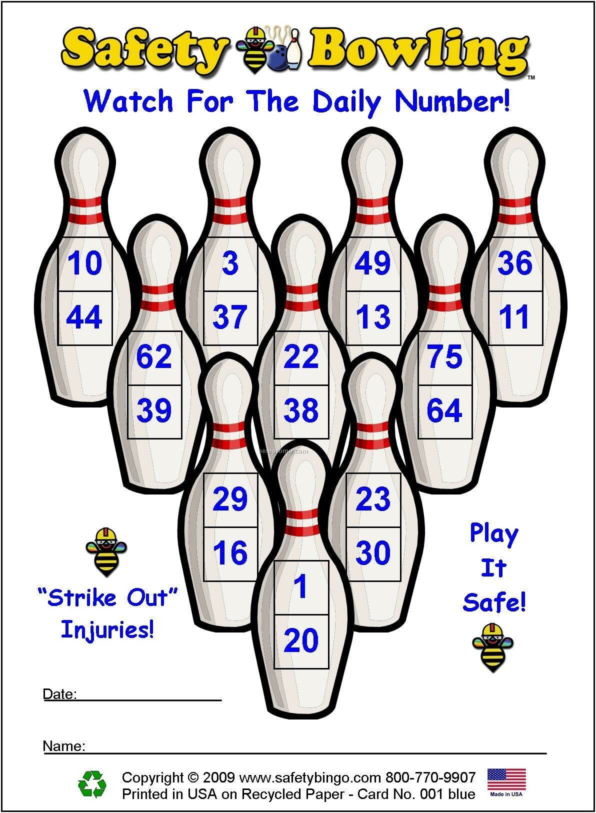 Safety Bowling Cards Or Custom Game Cards China Wholesale