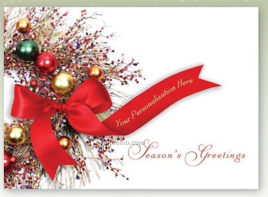 Identity Greetings Personalized Holiday Card Bejeweled
