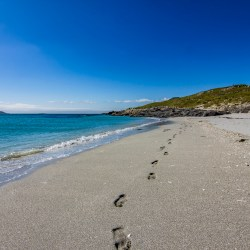 Footprints in the Sand, Eriskay, Outer Hebrides