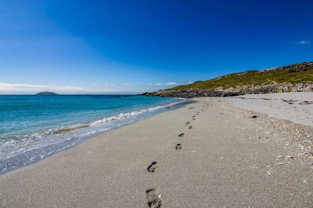 Footprints in the Sand, Eriskay, Outer Hebrides